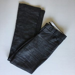 Theory linen wool charcoal grey trouser